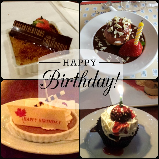 Desserts at Disney Restaurants for Birthday