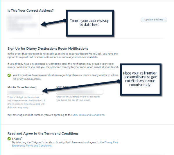 How to check Into A Disney Resort online - Step 3