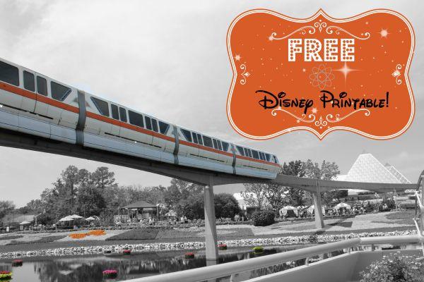Free Disney Printable