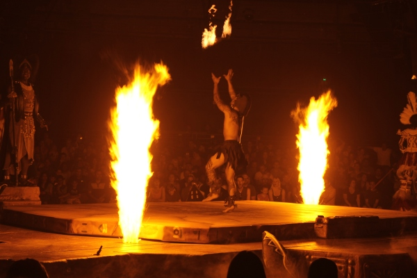 the festival of the lion king, fire baton
